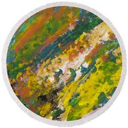 Abstract Piano 3 Round Beach Towel