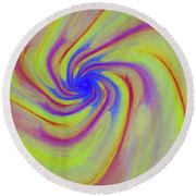 Abstract Pinwheel Round Beach Towel