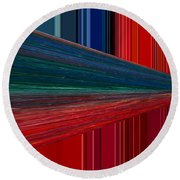 Abstract Pipeline Round Beach Towel