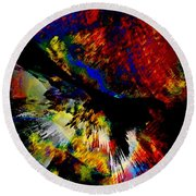 Abstract Pm Round Beach Towel