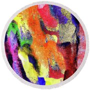 Abstract Poster Round Beach Towel