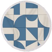 Abstract Puzzle Round Beach Towel