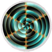 Abstract Radial Object Round Beach Towel