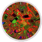Abstract Rainbow Slider Explosion Round Beach Towel