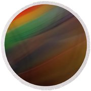 Abstract Chocolate Round Beach Towel