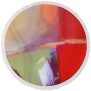Abstract Red Round Beach Towel