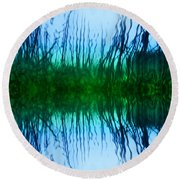 Abstract Reeds No. 1 Round Beach Towel