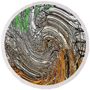 Abstract Reeds Round Beach Towel
