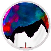 Abstract Religion 2a Round Beach Towel