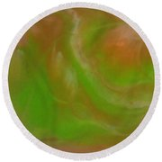 Abstract Resin Pour  Round Beach Towel by Sonya Wilson
