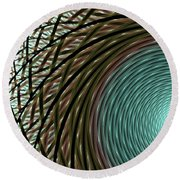 Abstract Ring Round Beach Towel