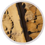 Abstract Rock With Diagonal Line Round Beach Towel