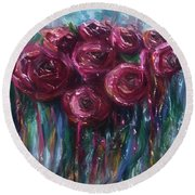 Abstract Roses Round Beach Towel