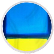 Abstract Seascape Color Field Round Beach Towel