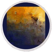 Abstract Seascape Round Beach Towel