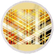 Abstract Shining Lines Round Beach Towel