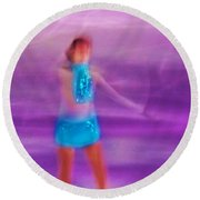 Abstract Skater Round Beach Towel