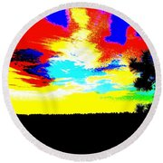 Abstract Sky Round Beach Towel