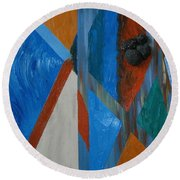 Abstract Space Round Beach Towel