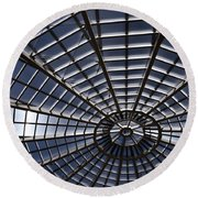 Abstract Spiderweb View Of A Central Tower Skylight At The World Round Beach Towel