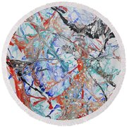 Abstract String Round Beach Towel