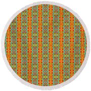 Abstract Square 56 Round Beach Towel