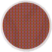 Abstract Square 16 Round Beach Towel