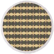 Abstract Square 19 Round Beach Towel