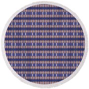 Abstract Square 20 Round Beach Towel