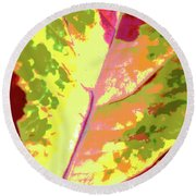 Abstract Summer's End Round Beach Towel