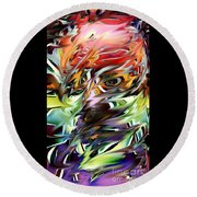 Abstract Thought Round Beach Towel