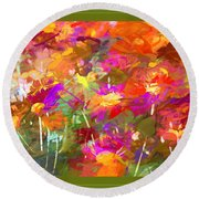 Abstract Thought Processes Round Beach Towel