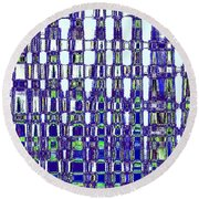 Abstract Time Round Beach Towel