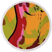 Abstract Torso Round Beach Towel