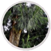 Abstract Tree 8 Round Beach Towel