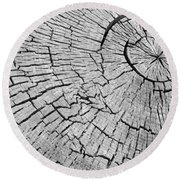 Abstract Tree Cut Round Beach Towel