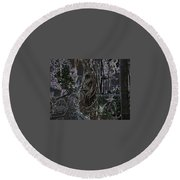 Abstract Twisted Tree Round Beach Towel
