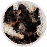 Abstract Universe Planet 5 Round Beach Towel