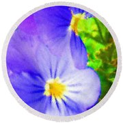 Abstract Violets Round Beach Towel