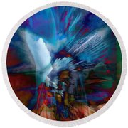Abstract Visual Round Beach Towel