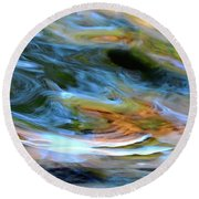 abstract water 2309DB Round Beach Towel