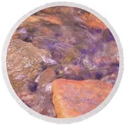 Abstract Water Art II Round Beach Towel