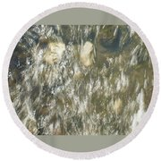 Abstract Water Art V Round Beach Towel