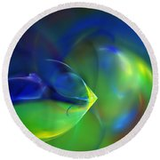 Abstract Water World 040411 Round Beach Towel
