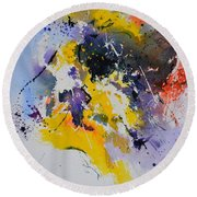 Abstract Watercolor 70075 Round Beach Towel