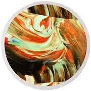 Abstract Whirls Within A Window Round Beach Towel