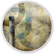 Abstract With Circles Round Beach Towel