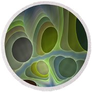 Abstract With Stars Round Beach Towel