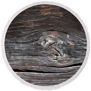 Abstract Wood Background  Round Beach Towel