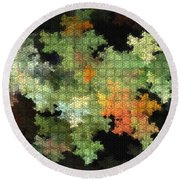 Abstract World Round Beach Towel
